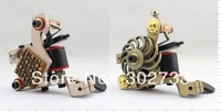 Wholesale - 2 Top Handmade  Tattoo Machine Gun Kit Shader+ Liner