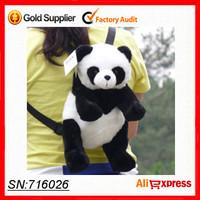 Free shipping! 2013 Lovely cute Plush Bag Animal Panda Bag white and black Color backpack women shoulder backpack kids