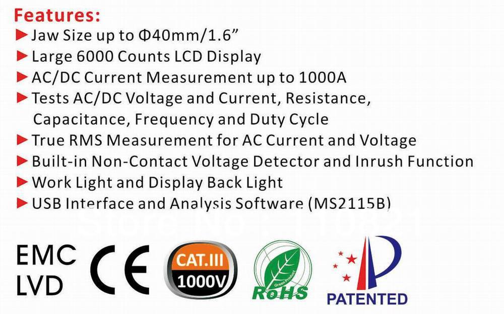 True Rms Detector Meter With Ncv True Rms