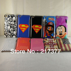 UK USA Flag Skull Mario Superman Minnie Hard Shell Back Case Cover For Apple iPod Touch 4 /4G free shipping 10 pcs/lot(China (Mainland))