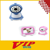 "2.4GHz Wireless 8-LED Night Vision Surveillance Camera with 3.5"" LCD Baby Monitor"