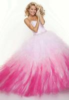 Elegant Long Ruffles Prom Ball Gown Formal Quinceanera Dresses