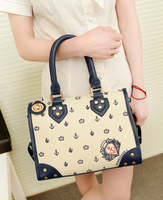 2013 women's handbag summer new arrival fashion smiley bag navy handbag shoulder bag small bags