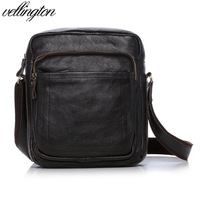 2012 vl genuine leather man bag fashion sports casual first layer of cowhide messenger bag v-zy8817
