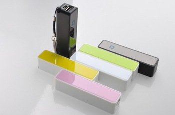 Free ship 2pcs/lot usd6 Cheap PURE ACRYL  perfume power bank 2600mAh  portable mini Moveable power bank