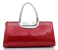 High quality 2013 women's Genuine leather handbag patent leather bride women's shoulder bag Free shipping M223
