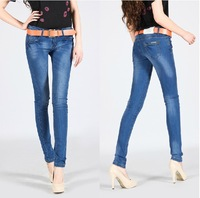 New Branded Big Size Fantasy Skinny  Fashion Denim Jean Blue Color High Quality Cheap Price Jeans Fast Delivery Free Shipping
