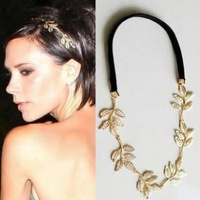 Min order $10,Free Shipping fashion british style romantic olive branch leaves decoration ribbon hair accessory 30g
