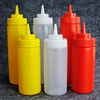 Free Shipping Squeeze sauce jam salad plastic bottle tomato sauce bottles vinegar