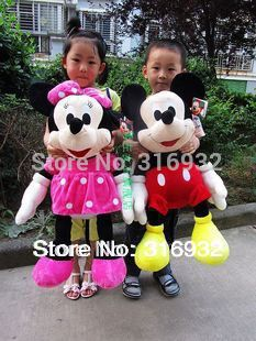 J1 High Quality 65CM Mickey Mouse / Minnie Mouse plush toy toys, 1 pc free shipping