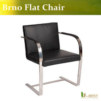 Red  leather Brno Flat Chair, High Quality Brno Flat Chair,Brno Flat  office Chair,designer brno flat chair