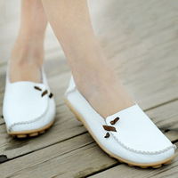 2013 free shipping super soft genuine leather shoes  loafers gommini summer boat shoes flats soft sole shoes