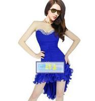 2013 New Fashion Ladies' Korean Fashion Sexy Club Dancing  Dress  party evening elegant Mini Dress for women With Belt