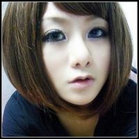 Female short hair fluffy bobo oblique bangs , short straight hair prettifier wig