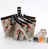 2013 New Japan's brand  super uv protection umbrella sun umbrella send up 3 folding umbrella automatic umbrella