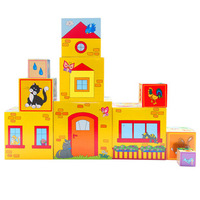 Large wooden sets of tower layers of building blocks building blocks educational toys