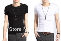 Free shipping Fashion t-shirts wholesale  mens t shirt  short-sleeve t-shirt casual T-shirt , 6 colors, 4 sizes