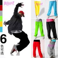 Hiphop jeans female costume ds lead dancer clothing loose jazz dance hip-hop pants 8448
