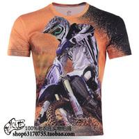 2013 new hot sale motorcycle men o-neck 3D prints plus size S-6XL novelty T-shirt men's clothing  TCQ004