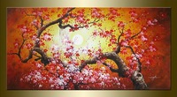 MODERN ABSTRACT HUGE WALL ART OIL PAINTING ON CANVAS Plum Blossom (No frame)