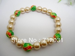 New Fashion Hot Sell Handmade Light Coffe Glass Enamel Beads Bracelets 6 String(buyer can choose color)(China (Mainland))