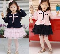 A0291 Kids Toddlers Dress Girls Tutu Skirts Cotton Princess Dress Size 3 8 Years