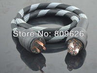 Audiocrast Silver plated US power cable with Red copper Connector & IEC 1m