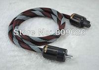Audiocrast HIFI US AC Power Cord  with P-004E+ C-004 Rhodium Plated power plug