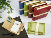 5 6 loose-leaf notebook categorise 6803 quality notepad tsmip leather tape pen diary  free shipping