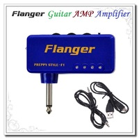 High quality Miniature Portable Headphone Guitar AMP Amplifier Flanger Red / Blue Color Dropshipping