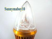 8PCS/LOT 9W 12V AC/DC Candle Light E14 base lED bulb LED Lamp 6colors for choice Gold Case LC9