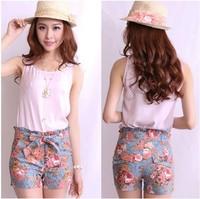 Hot sales 2013 summer fashion leisure pants fashion shorts beach shorts female print trousers beach pants,free shipping