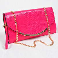 Bags 2013 female new arrival women's handbag color block chain brief vintage day clutch one shoulder cross-body bag
