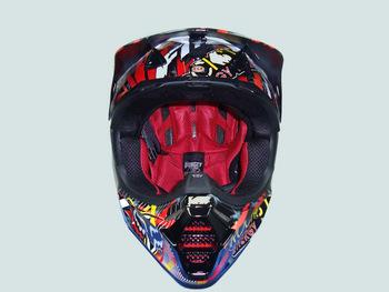 V3 Rockstar Motorcross Helmet,Made of Glass Fiber,Strong Lightweight,Full Face,Comply with DOT&Snell Test, For Fox Oder Stock