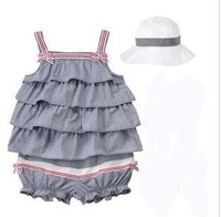 wholesale Baby Clothing  girl dress Children's clothing kids wear  Sling Condole belt  lovely children's clothing sets 8sets/lot