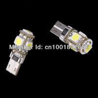 Free DHL 400pcs/lot Error Free T10 NO OBC Error White Light Bulbs W5W 194 5050 SMD 5 LEDCar Canbus LED Lamp