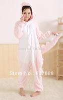 1 pcs Pajamas Dragon Animal suits Cosplay Costume Garment Coral fleece Pink dinosaur sleepwear