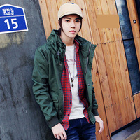 Short jacket 2013 spring fashion jacket men's clothing Army Green outerwear