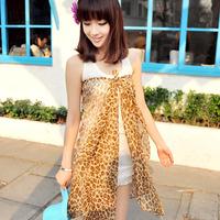 2013 female long design leopard print magicaf chiffon scarf