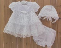 Retail 1pcs baby girl's dress 2013 hot sell Euro newborn embroidery princess dress cake skirt white infant dress baby clothing
