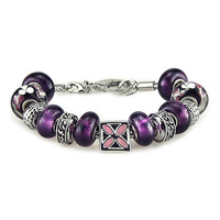 Freee shipping  big promotion Womens lampwork beads bracelets 2013, handmade lampwork European beads bracelets