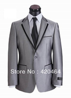 Free Shipping, Top Quality Business Suits for Men Elegant Brand Wedding Suit 100% Wool (Coat +Pants ) XS-5XL
