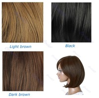 New Style Womens Girls Sexy Short Fashion Straight Hair Wig 3 Colors Available