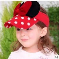 Free shipping new fashion girls' hat Korea cartoon mouse bowknot empty top hat CA043