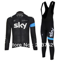 2013 SKY Team Cycling Jersey/Cycling Wear/Clothing+Bib Pants- SKY-shorts 3D orange coolmax padded accept customized models