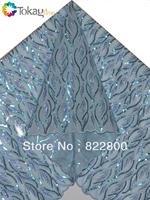 Free shipping!New design swiss organza lace,big organza lace fabric,5 yards/piece,sky blue+royal blue+turkey blue color ,TKL1994