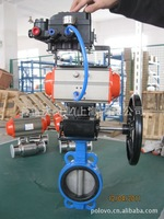 Pneumatic control valve regulating butterfly valve