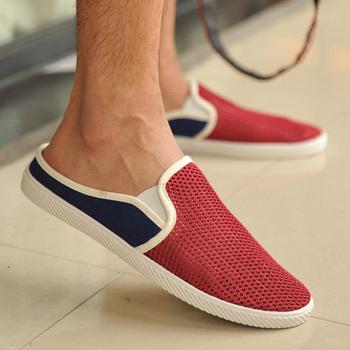 Педаль FreesТазping летние мужчины холст обувь британский стиль бездельничали обувь ...