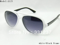 Fashion sunglasses 4125 black+white Frame Unisex sunglasses come with Box