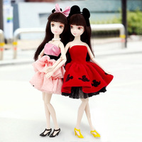 29cm China kurhn doll  authentic Chloe doll 6086 classic mickey Minnie 6087 white body muscle gift 1 pcs